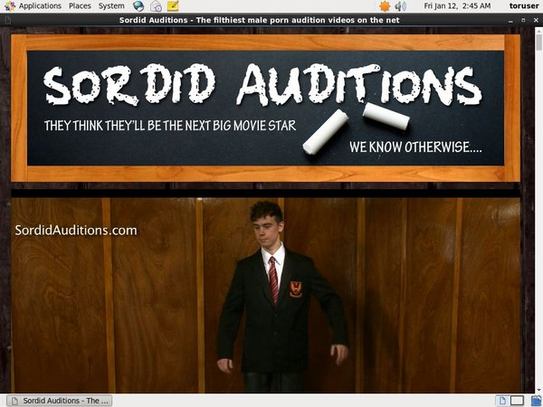 Sordid Auditions Pro Biller Page