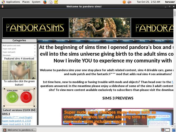 Pandorasims Account Online